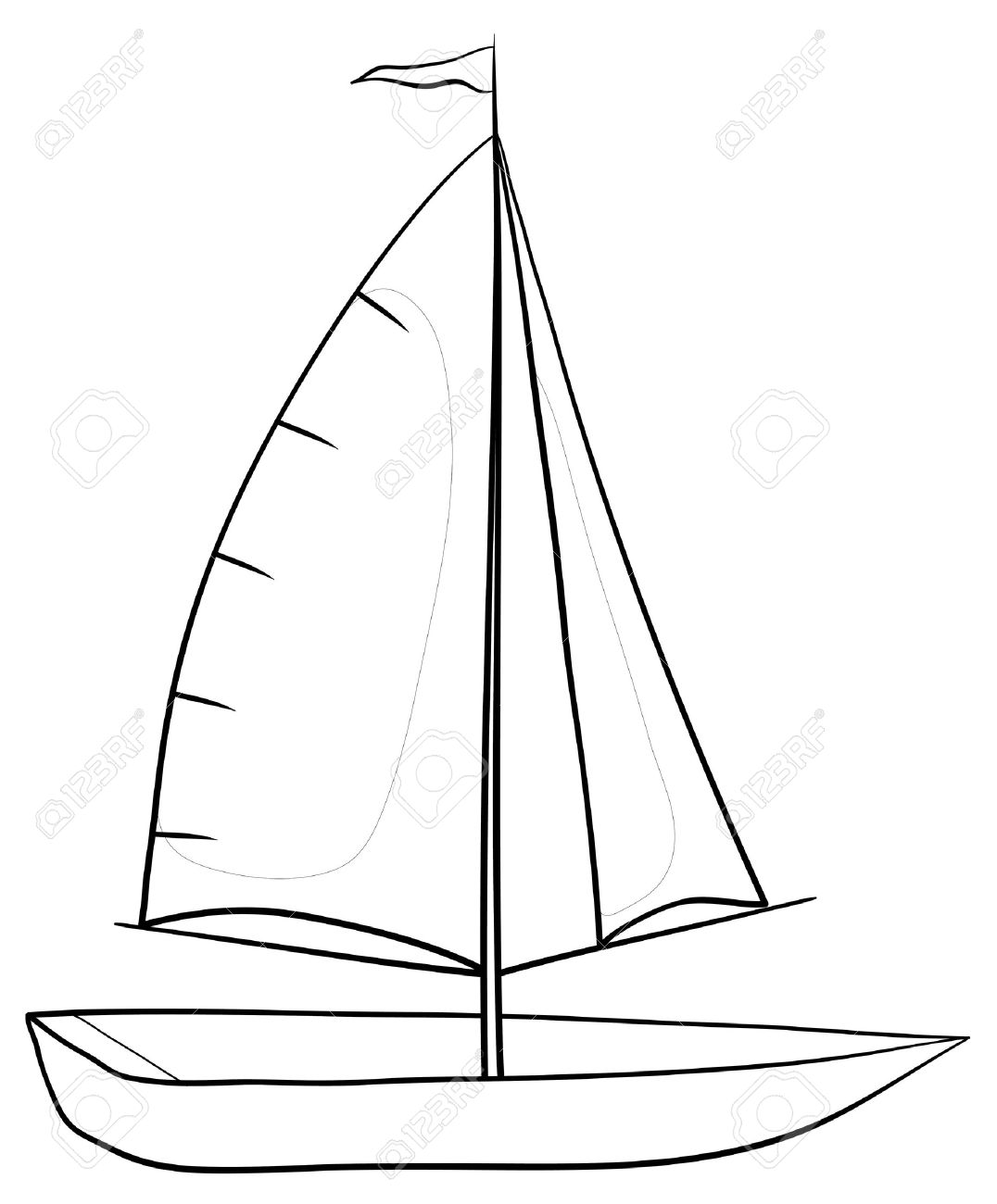 Boat Mast Clipart