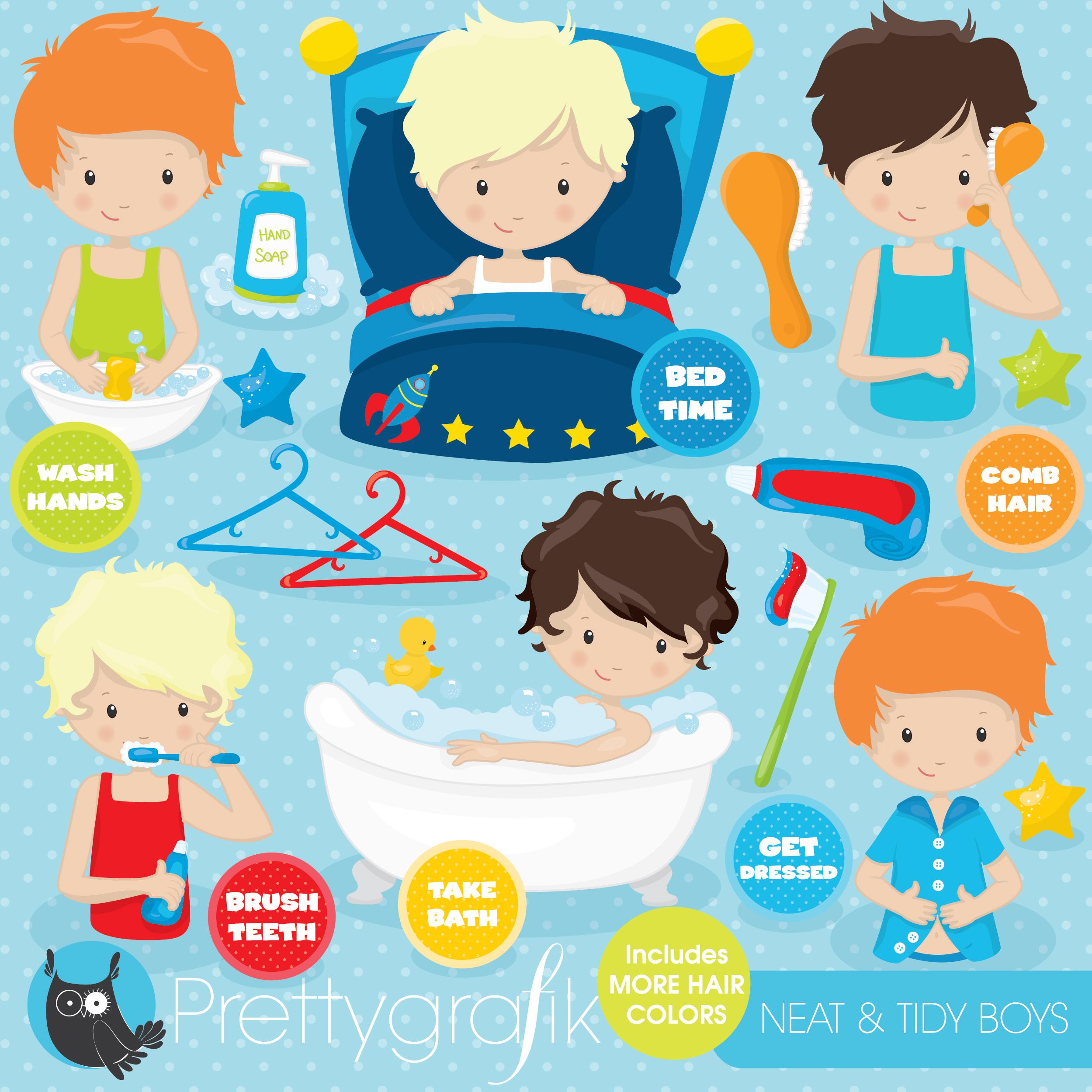Body Hygiene Clipart