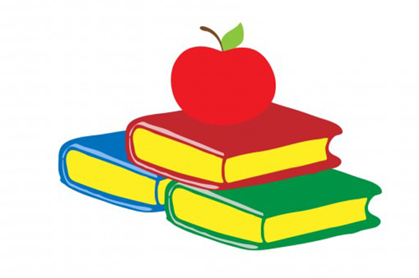 books with apple clipart 20 free