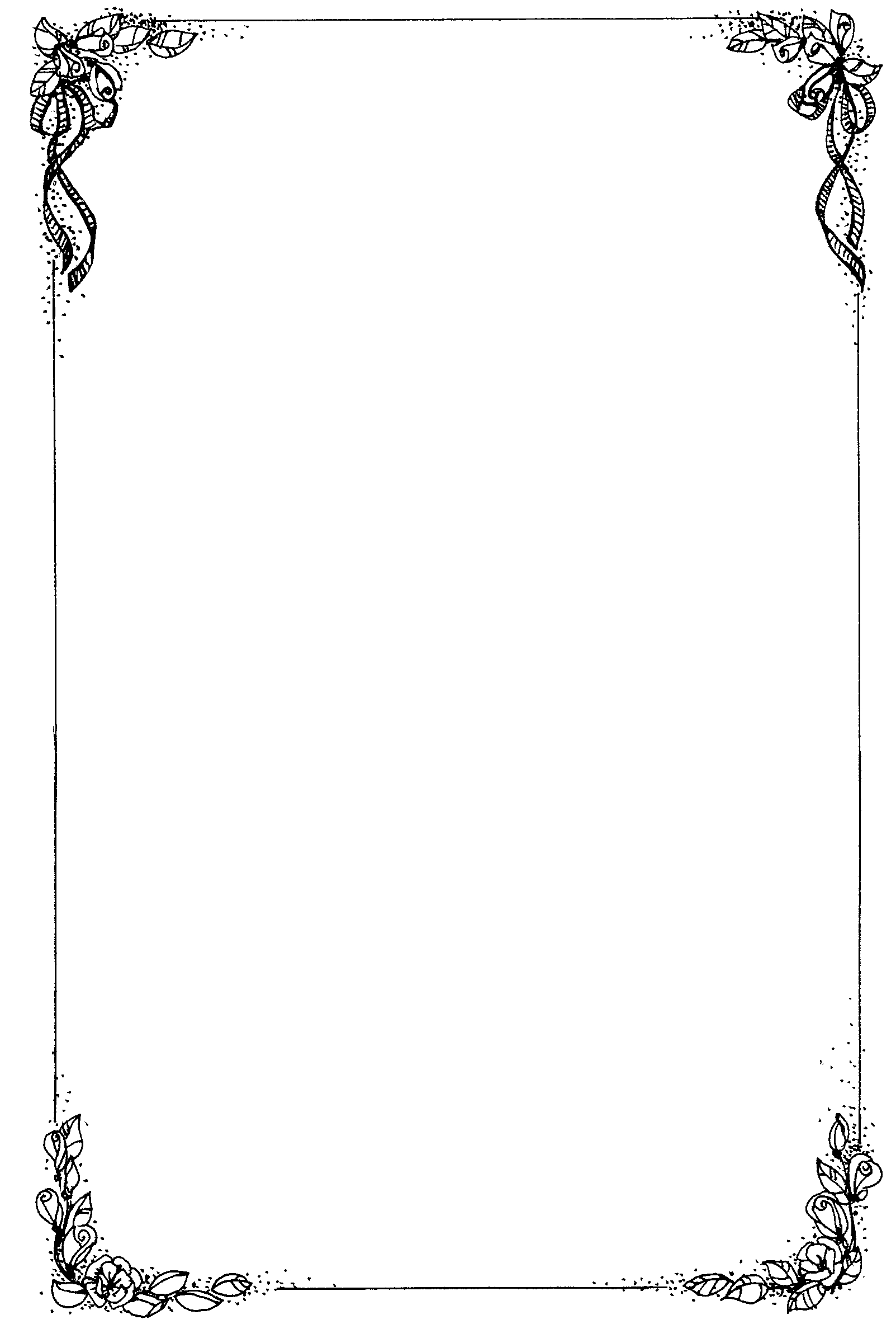 Floral Border For Word Document
