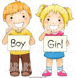boy clipart student gender children holding signs clip blond vector haired cute 3d clipground pre cliparts diverse royalty