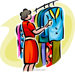 clothes clipart shopping boy woman clipground cliparts
