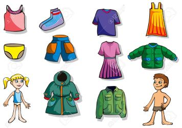 clothes clipart boy shopping cartoon vector illustration cliparts showing