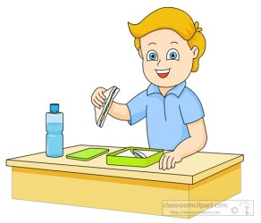 eating clipart boy lunch sandwich box classroom clip student lab classroomclipart clipground cafeteria results