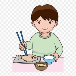 clipart dinner eating boy clipground