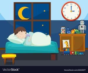 boy sleeping clipart bed bedroom vector royalty clipground cartoon