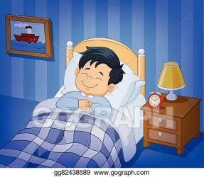 sleeping boy clipart bed clipground cliparts
