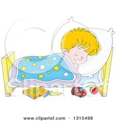 sleeping boy clipart cartoon bed peacefully blond illustration sleep vector royalty go bannykh alex into outline clipground illustrations copyright
