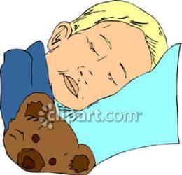 sleeping boy clipart bed bear teddy sleepy child royalty clipartpanda clipartmag clipground