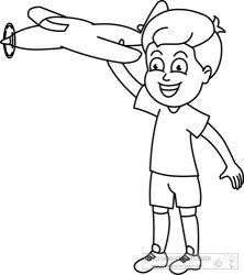 toy boy outline clipart plane children toys clipground