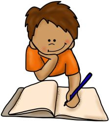 writing clipart boy floor