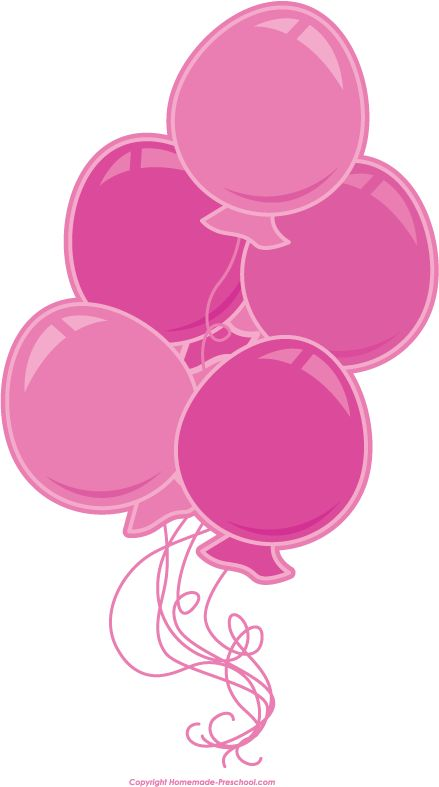 pink balloon clipart - clipground