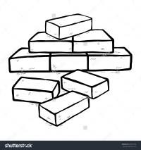 bricks clipart black and white - Clipground