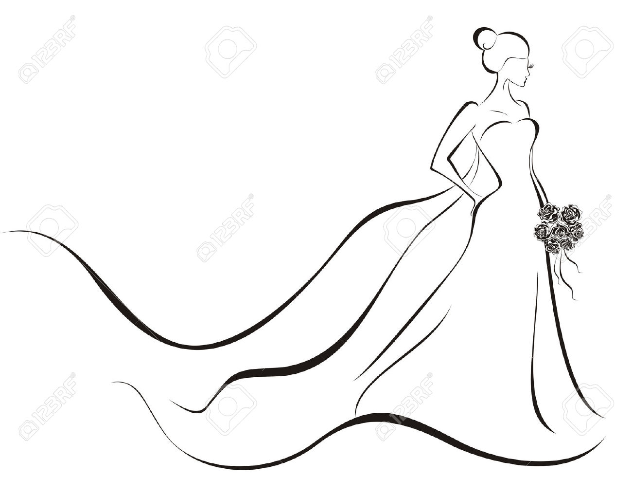Bridal Gowns Clipart