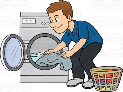 Folding clothes clipart