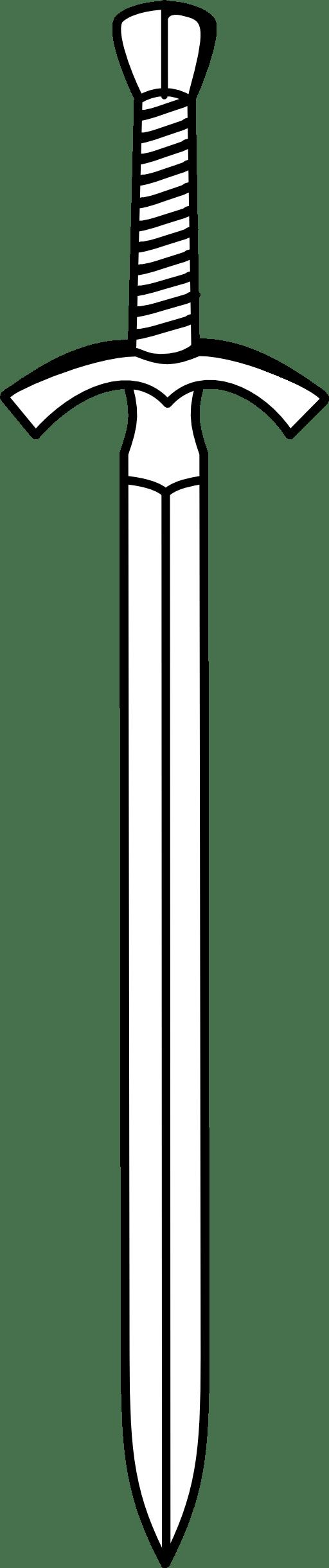 hight resolution of knight sword clipart