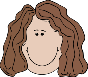girl with straight hair clipart