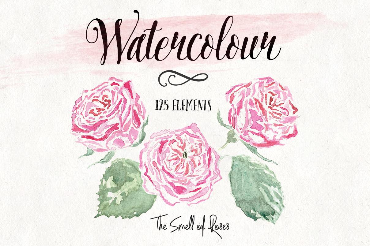 hight resolution of watercolor flower clipart free