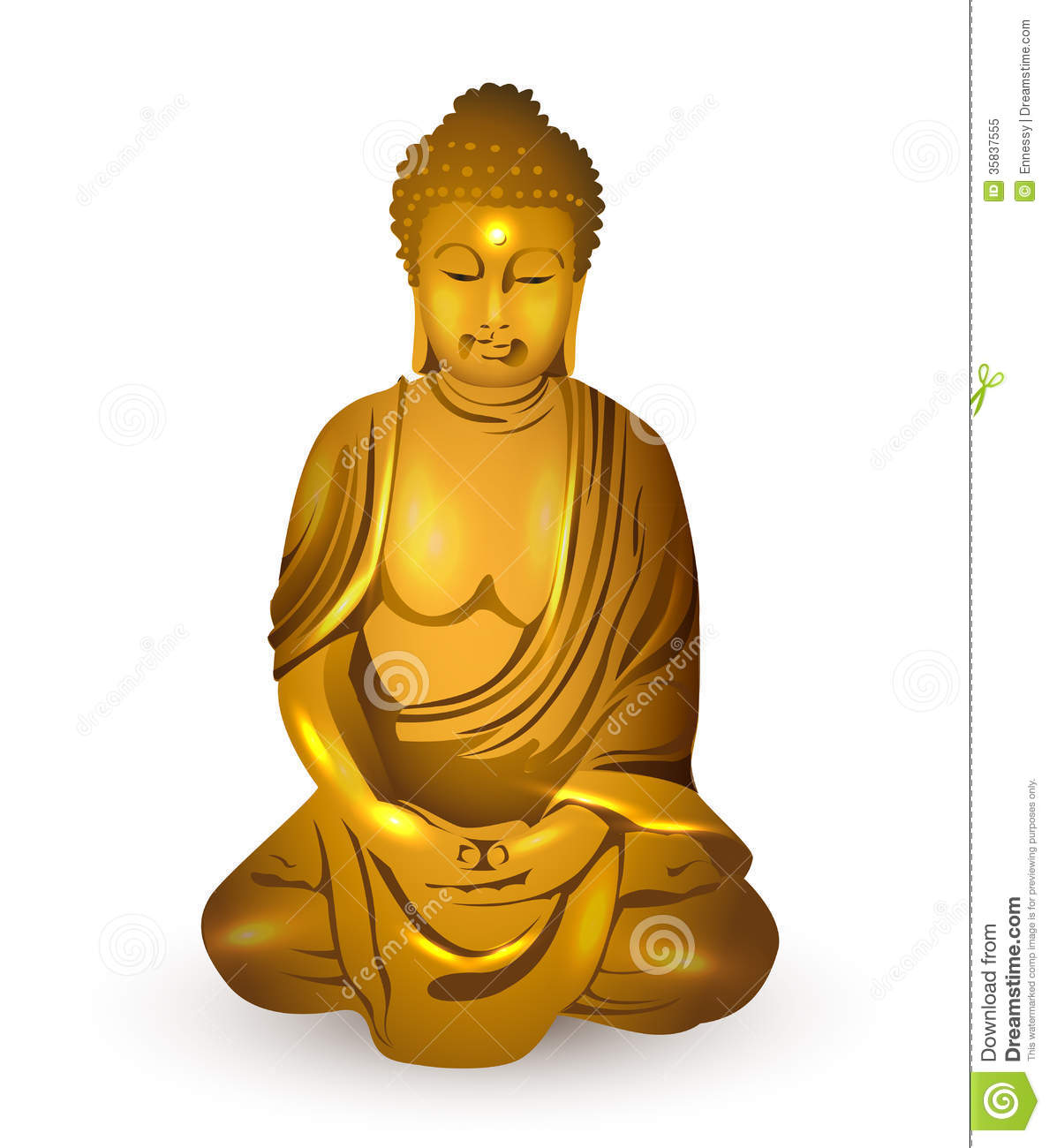hight resolution of gold buddha vector royalty free stock photo