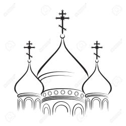 orthodox church clipart cathedral domes russian outline clip crosses onion cross temple dome orthodoxy greek illustration cartoon version clipground vector