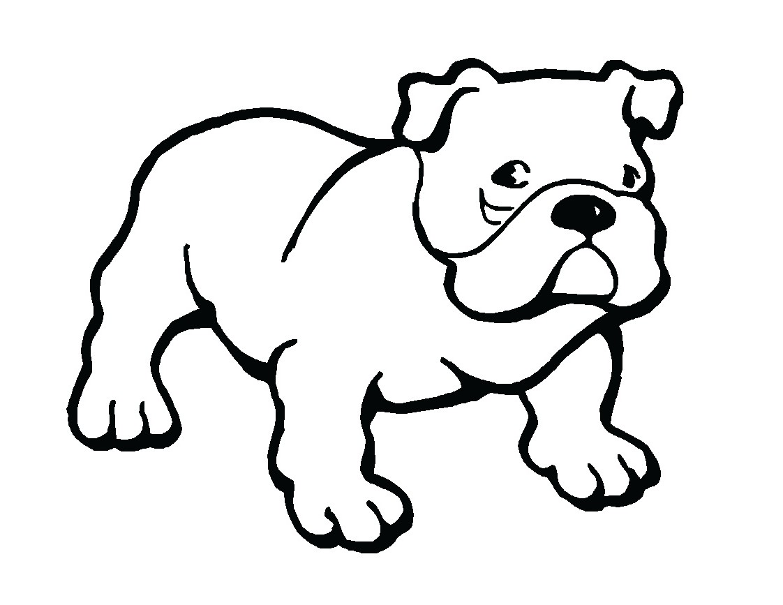 Bulldog Outline Clipart 20 Free Cliparts