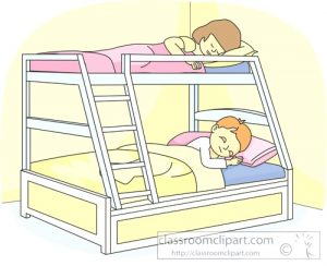clipart bunk beds bed sleeping kid clipground attractive classroom children