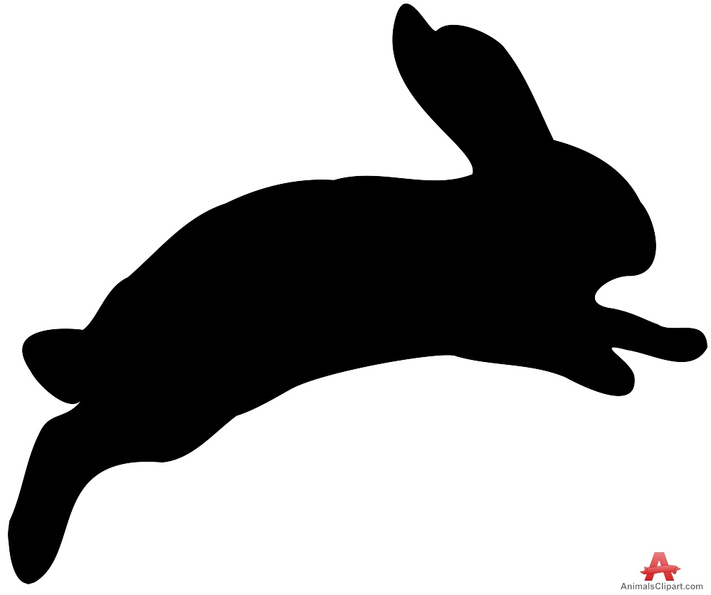 hight resolution of animals clipart of bunny jumping rabbit silhouette clipart