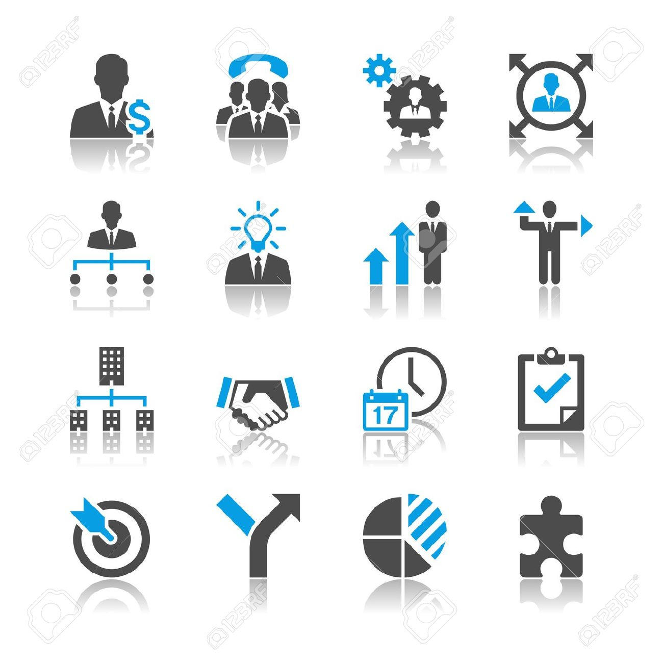 hight resolution of business sales multi task icon free clipart