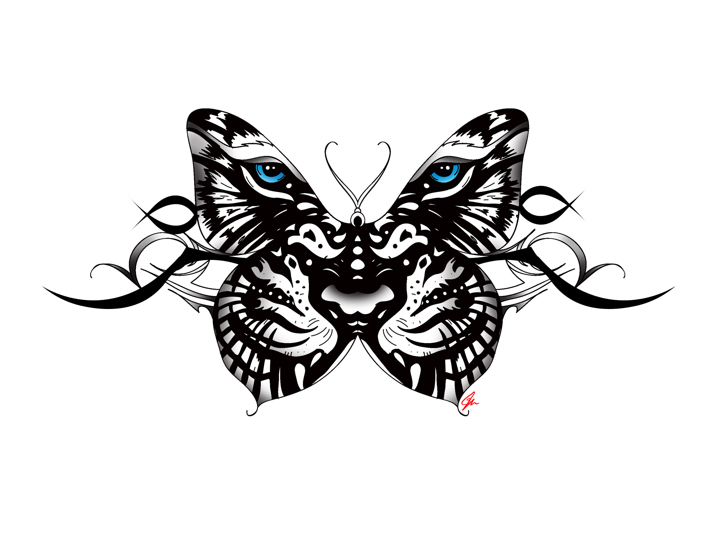 Butterfly Eyes Clipart Black And White