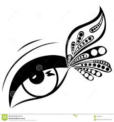 butterfly eyes eye clipart human patterned wing vector illustration corner clipground preview