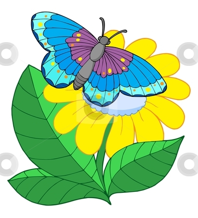 butterfly flower clipart - clipground