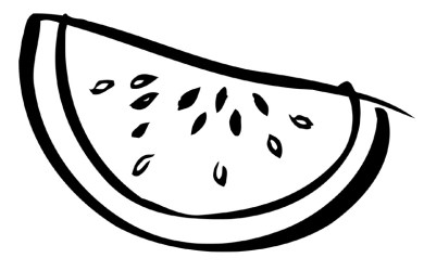 watermelon coloring printable pages fruit clipart slice sliced clip print drawing cute template line clipground getdrawings sketch bw