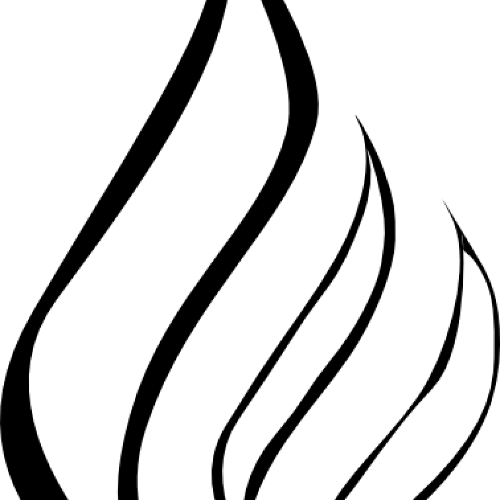 Candle Flame Clipart Black And White 10 Free Cliparts