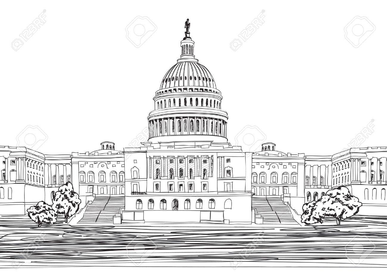 Capitol Building Washington Dc Clipart