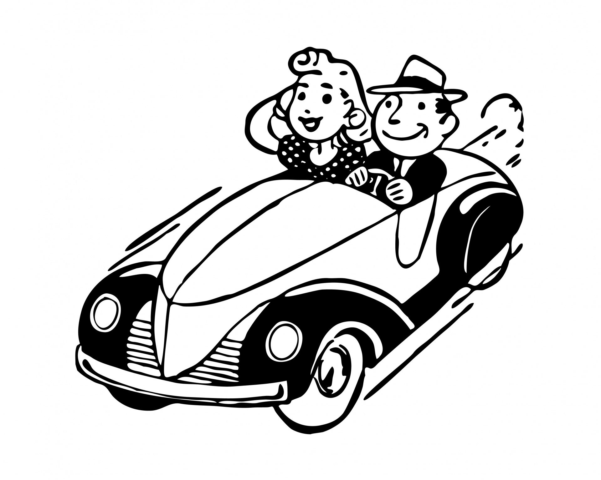 Car Drivers Couple Clipart 20 Free Cliparts