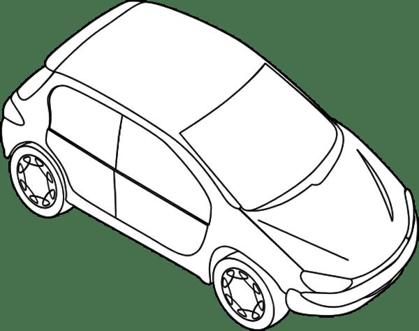 car outline clipart - clipground