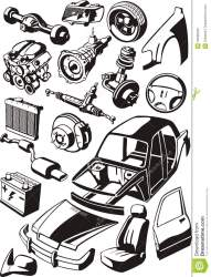 parts transmission clipart clip body different vector auto royalty radiator clipground door viewing