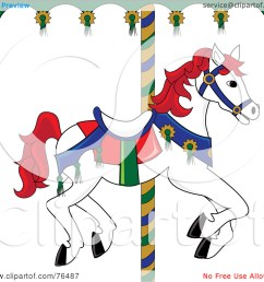 free carousel horse clipart  [ 1080 x 1024 Pixel ]