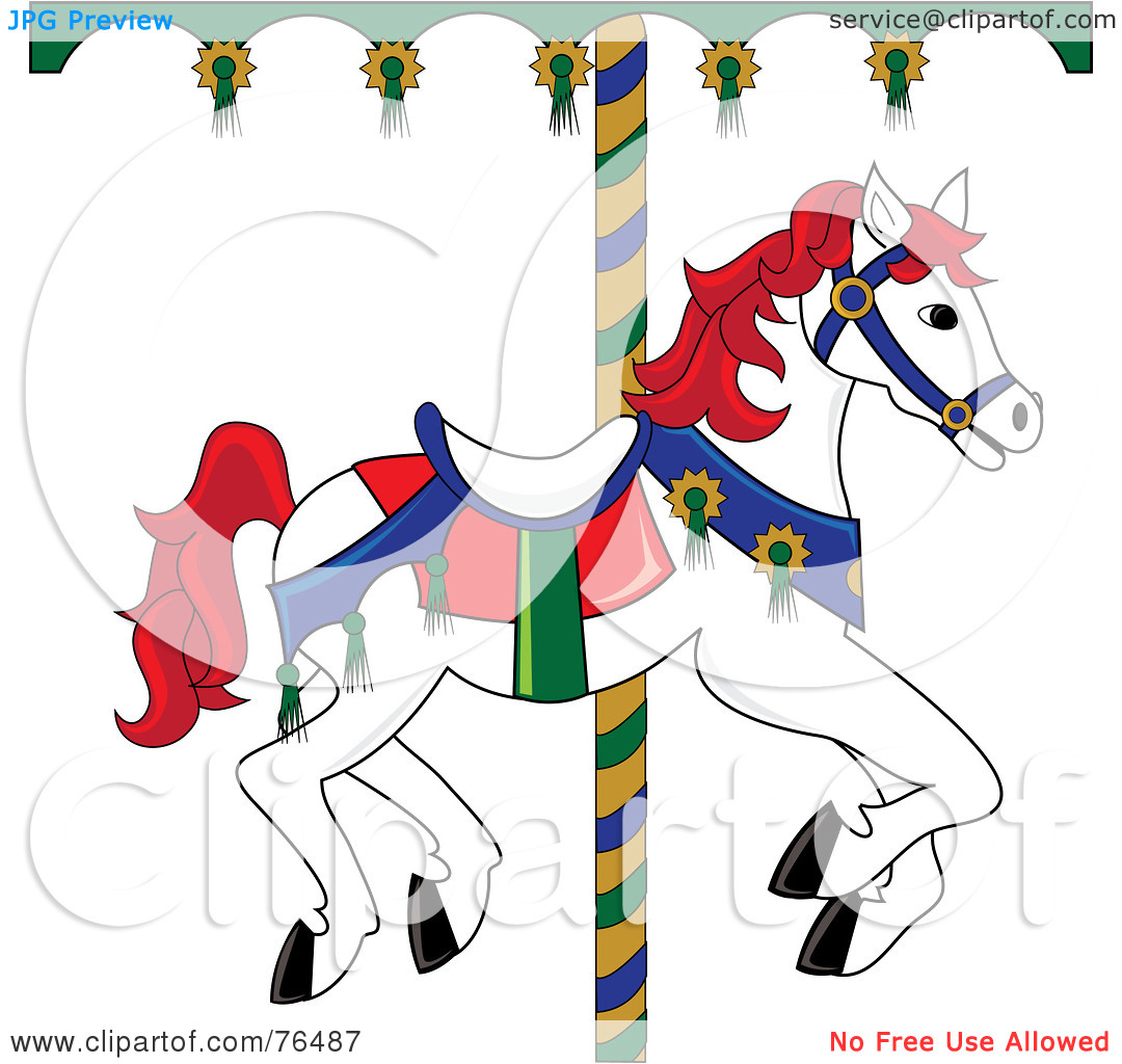 hight resolution of free carousel horse clipart