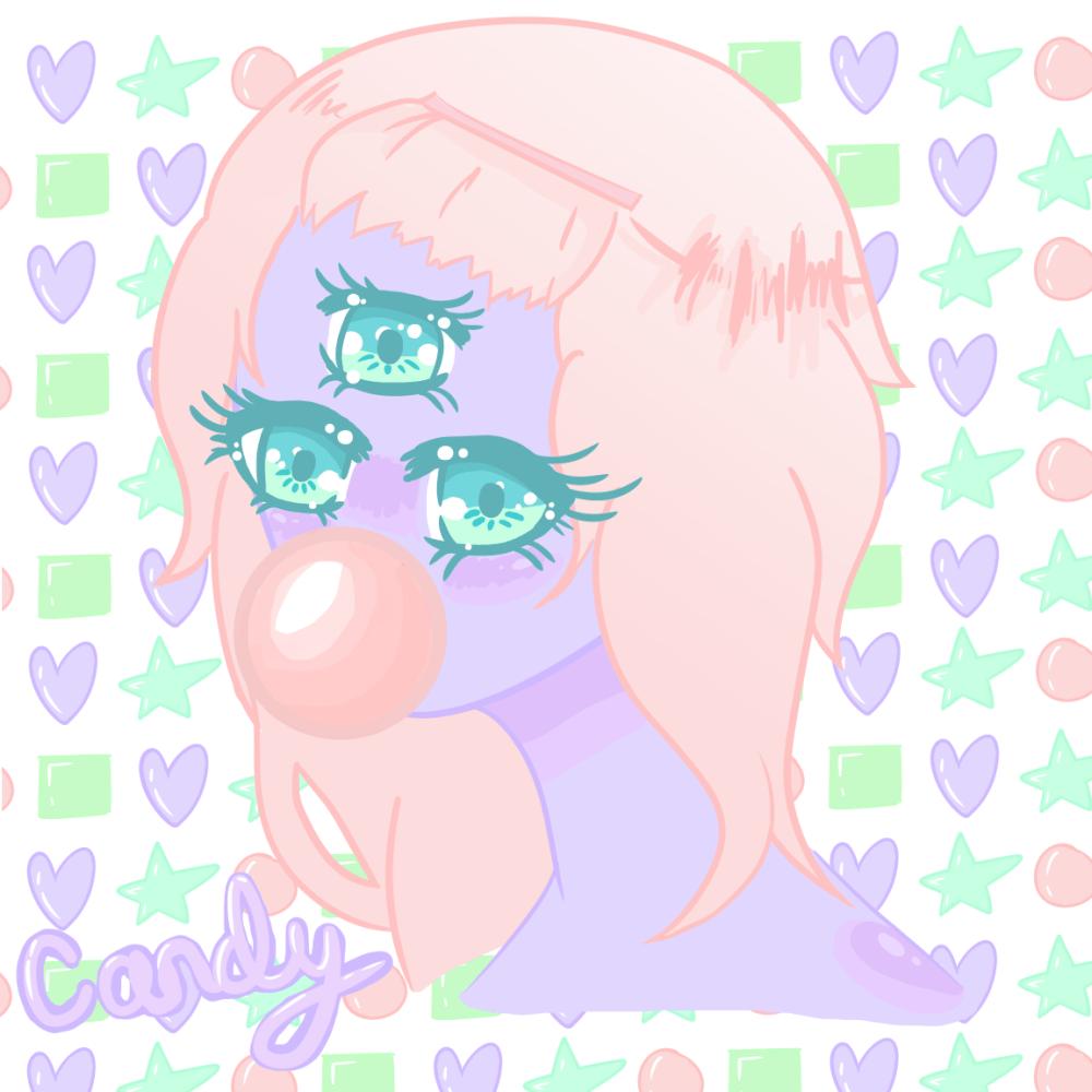 medium resolution of candy kawaii anime girl monster three eyed drawing digital art
