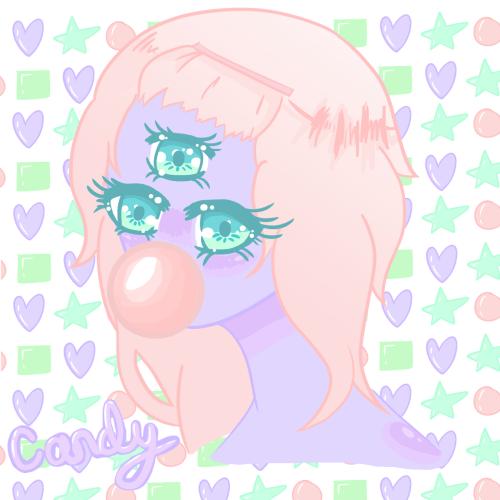 small resolution of candy kawaii anime girl monster three eyed drawing digital art