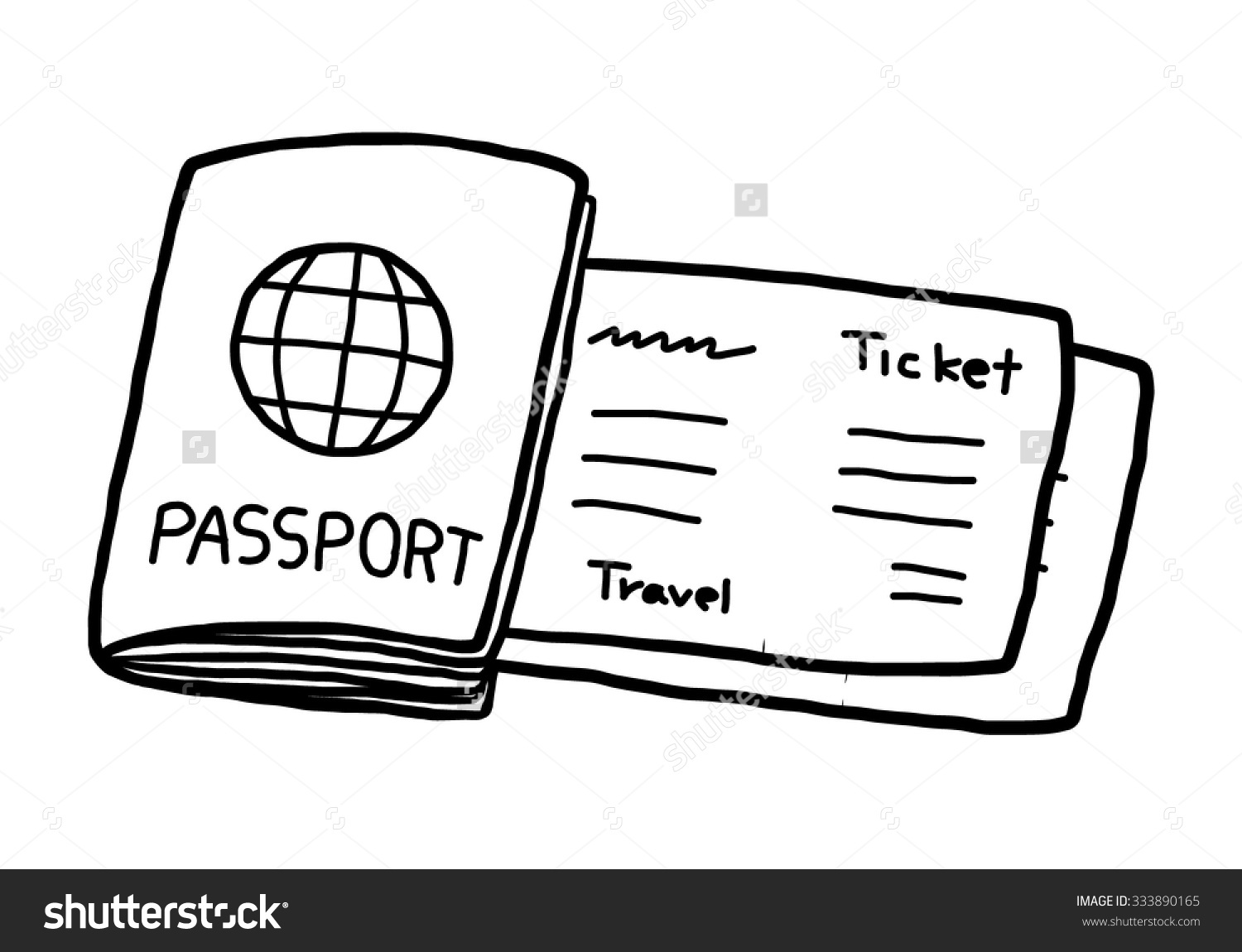 Cartoon Passport Clipart