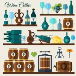 wine vector clipart cellar winecellar clip winery decorative icons royalty clipground sketch icon grape corkscrew illustration gograph