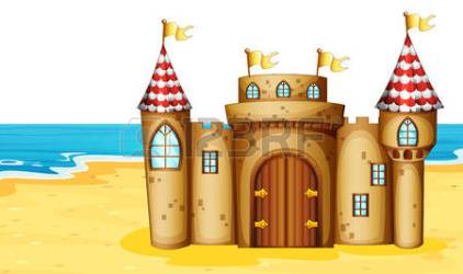 castle beach clipart cellar vector clipground illustration door royalty