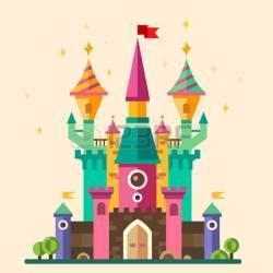 castle clipart cellar cartoon vector flat illustration