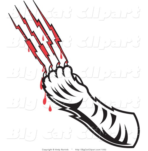 small resolution of cat claw marks clipart
