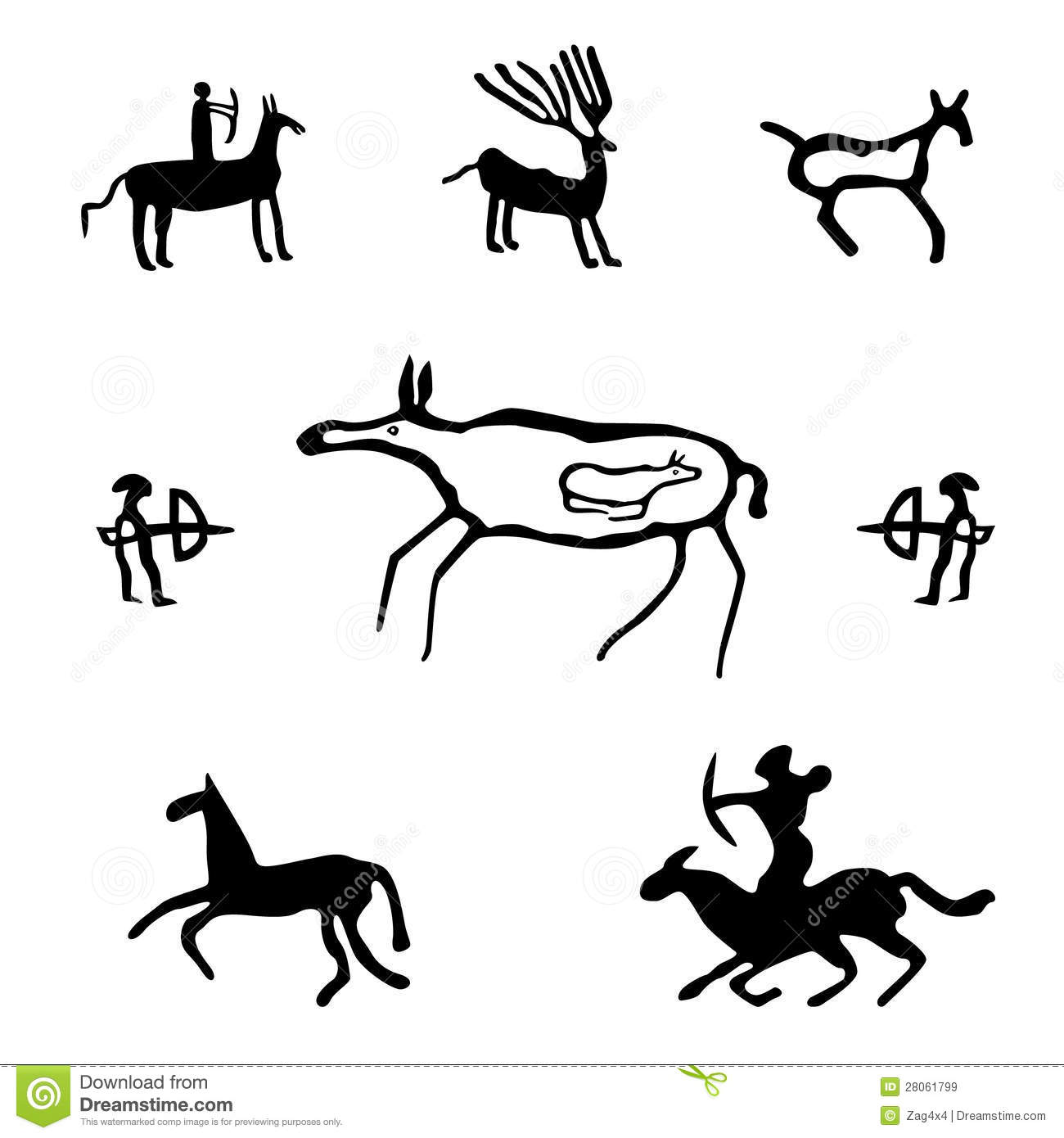 Cave Paintings Clipart