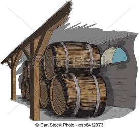 cellar wine clipart rows barrel barrels woodcut technique clip vector drawings drawing eps clipground illustration graphics illustrations cave vectors winery