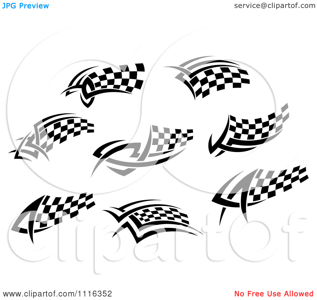Checkard Flag Tribal Clipart