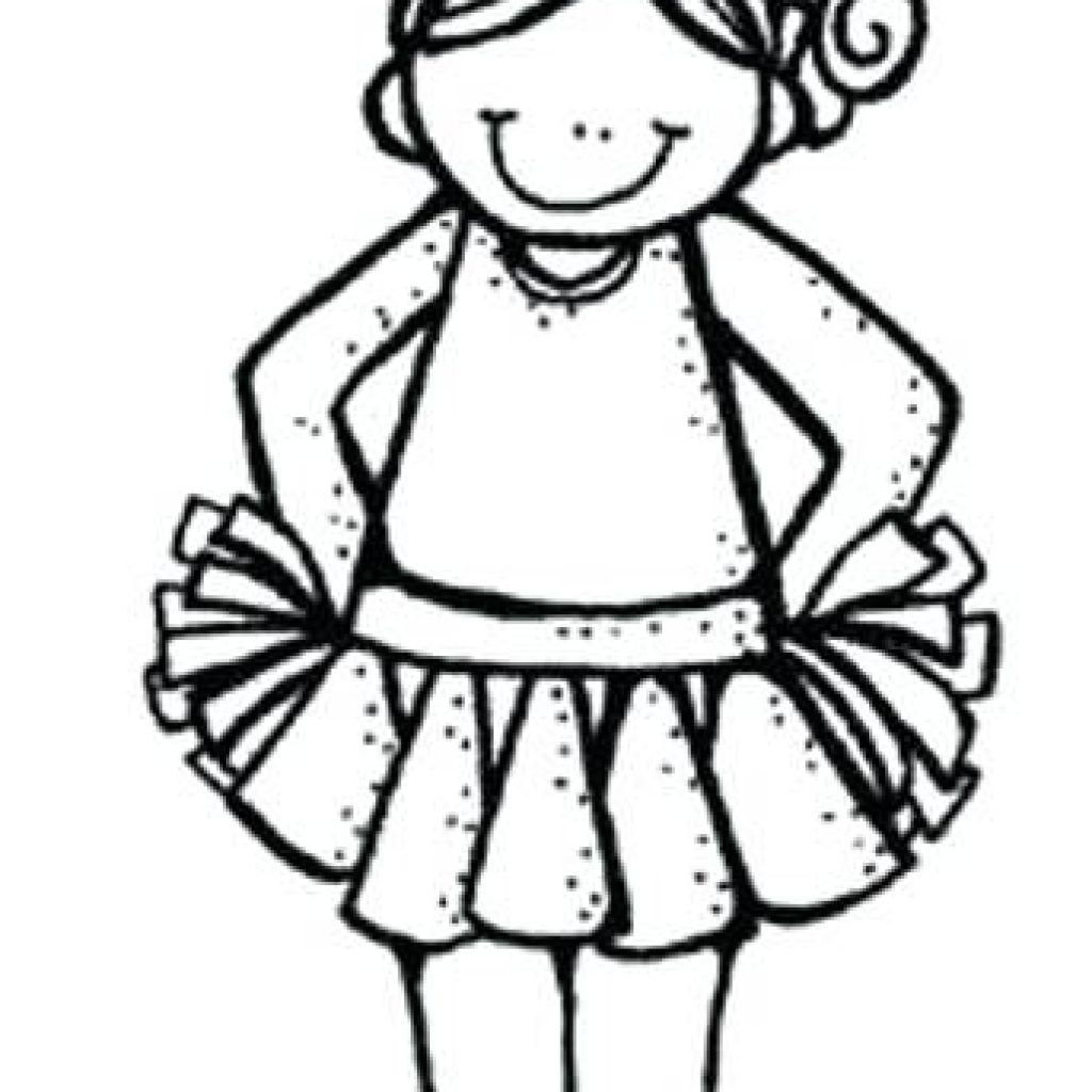 Cheerleader Clipart Black And White 20 Free Cliparts